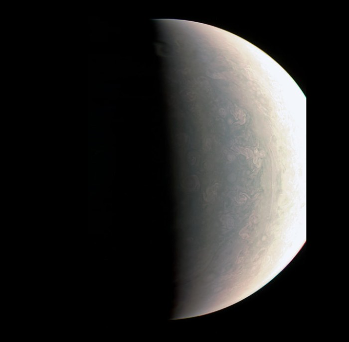 Close-Up Views of Jupiter's North Pole