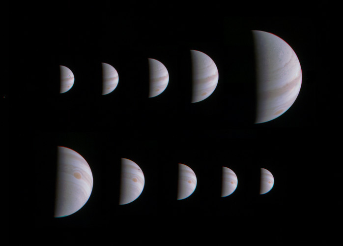 Juno's approach and departure at Jupiter