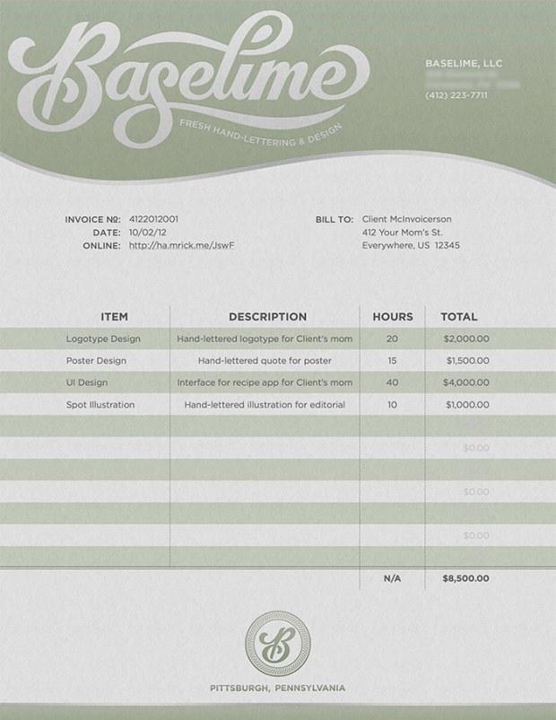 baselime invoice