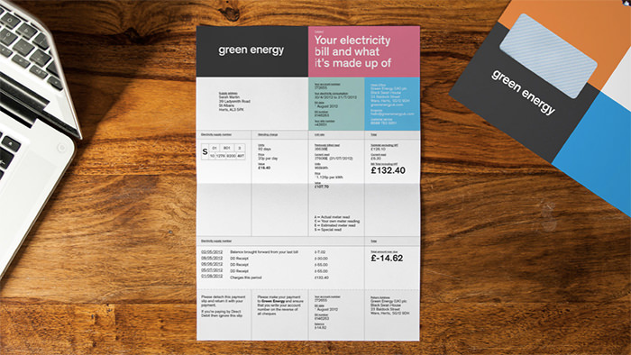 green energy invoice
