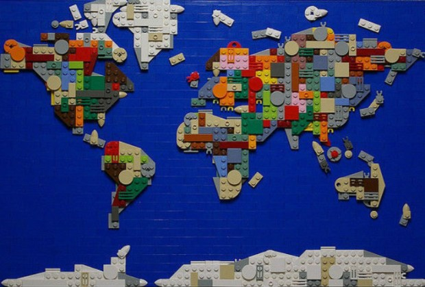 40 creative remakes of the world map rankred lego world map gumiabroncs Gallery