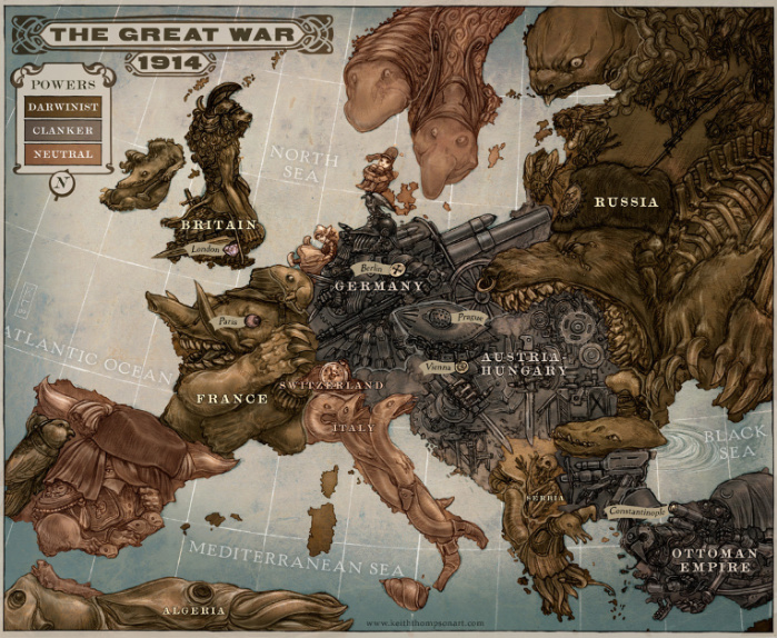 Map of Europe 1914