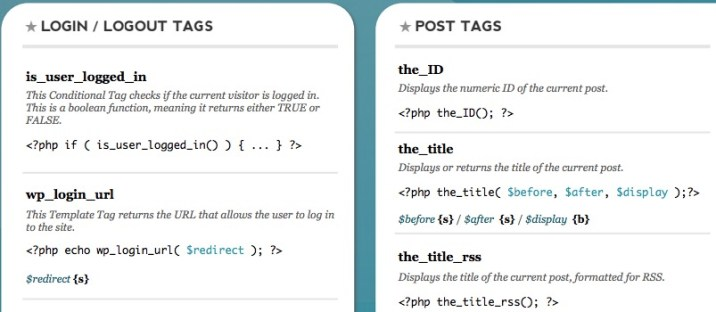 WordPress CSS Cheat Sheet