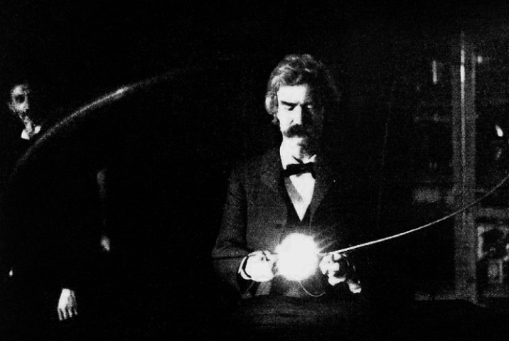 Mark twain and Tesla