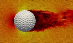 Simulations Of Spinning Golf Balls
