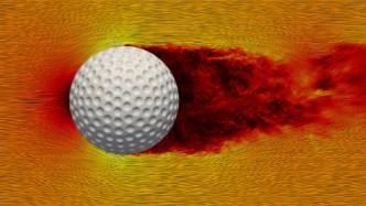 Simulations Of Spinning Golf Balls