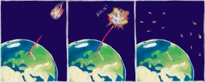 miniature asteroids destroy with a laser