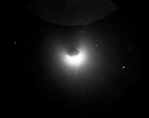 Geocorona captured from Moon