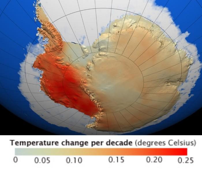 Antarctica Temperature change