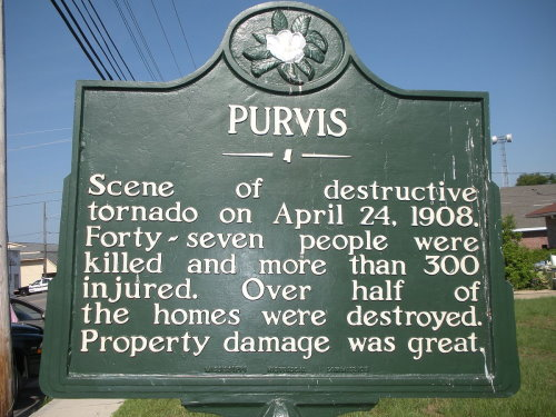 Purvis tornado