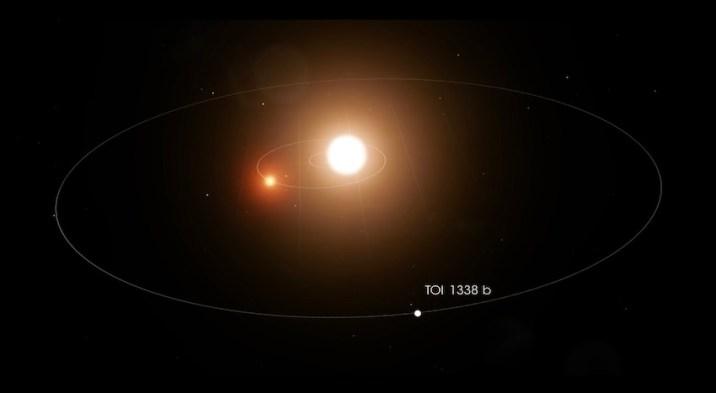Planet Orbits Two Stars