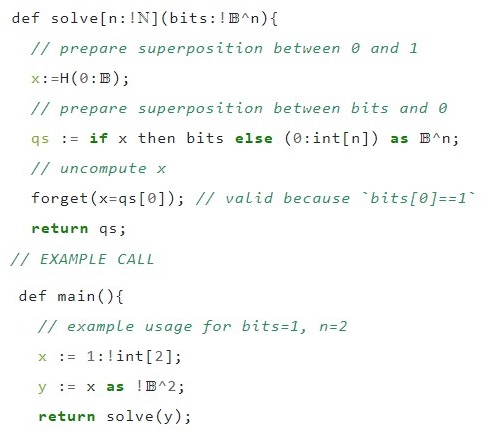 Quantum programming language