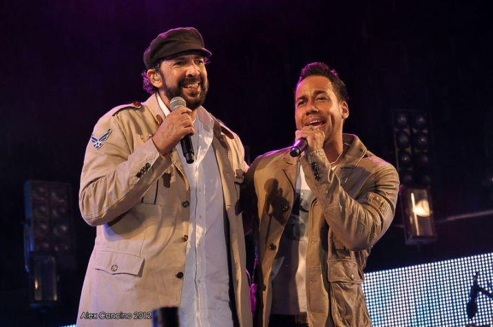 Romeo Santos and Juan Luis Guerra