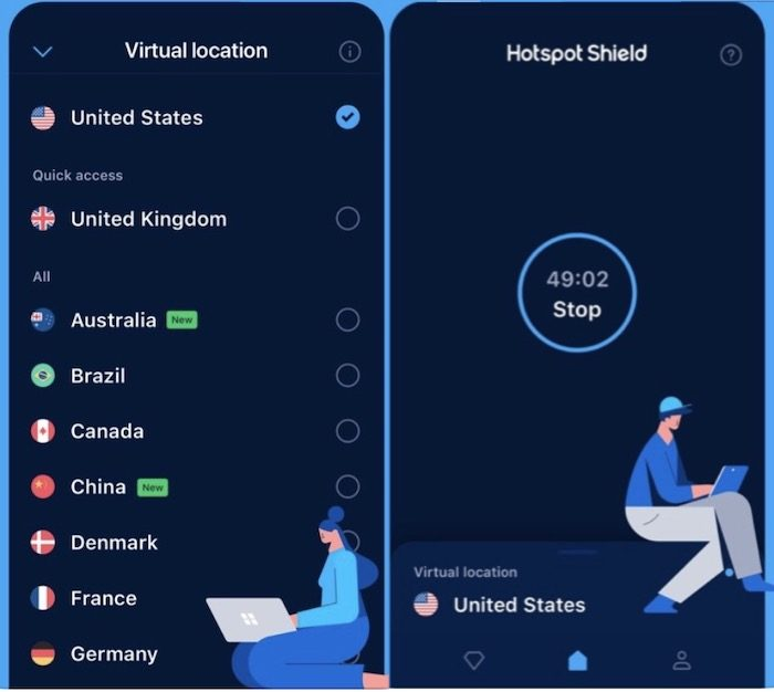 Hotspot Shield - free proxy servers