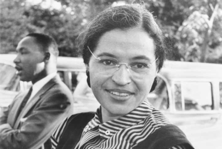 Rosa Parks with Martin Luther king Jr.