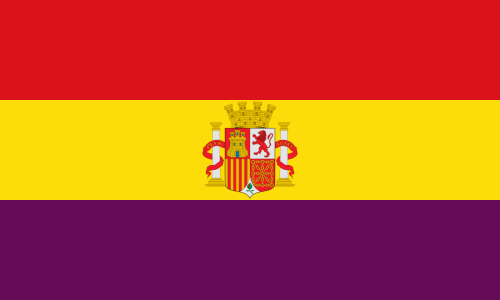 Spanish flag under Second Spanish Republic
