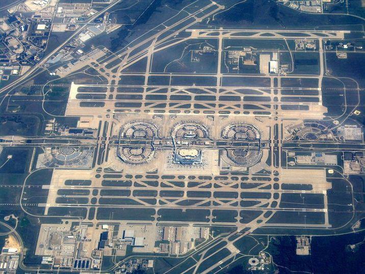 Dallas Fortworth Airport aerial view