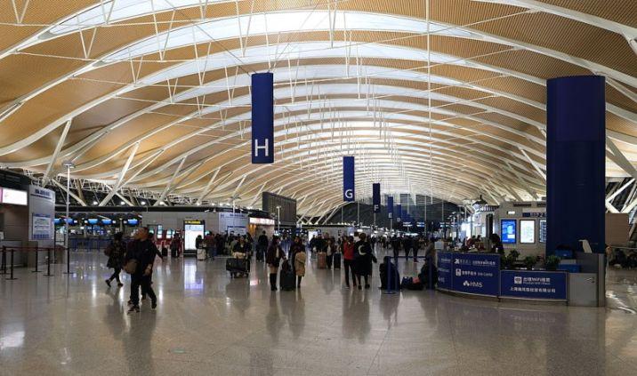 Shanghai Pudong International check-in Terminal 2