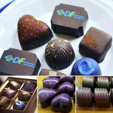 handcrafted chocolates; boutique includes hot cafe drinks, pastries & gelato