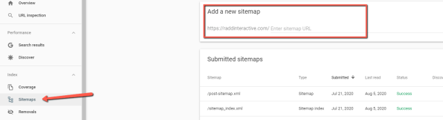 Adding a sitemap for faster indexing