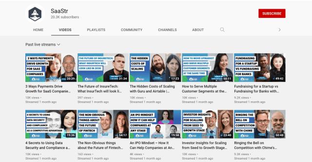 SaaStr Youtube Channel