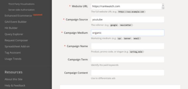 Adding Campaign Medium in Campaign URL builder