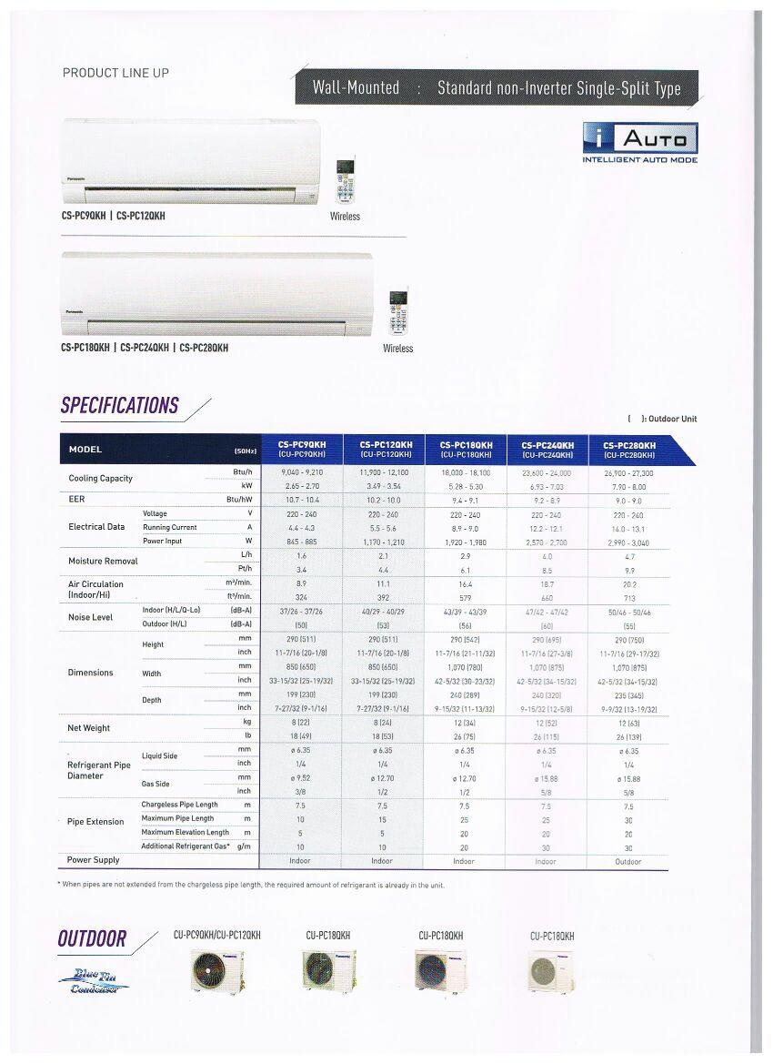 Rano360.com » Panasonic Single Split Air Conditioner