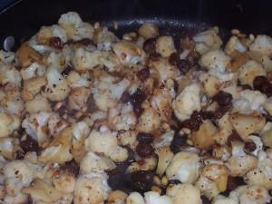 Roasted Cauliflower & Pine Nuts &  Raisins