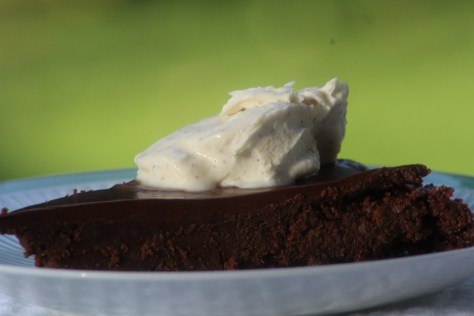 Double Down Flourless Chocolate Cake