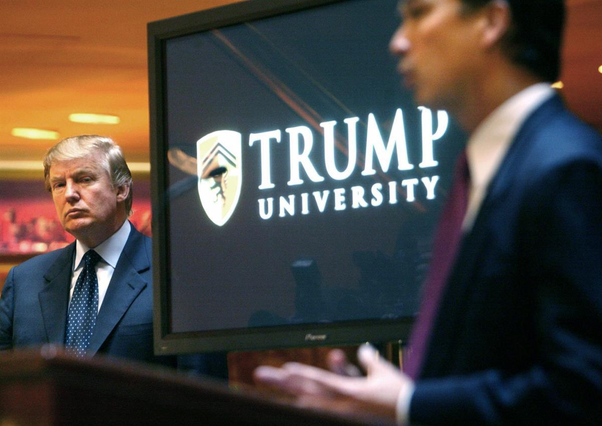 Donald Trump at a news conference in New York where he announced the establishment of Trump University on May 23, 2005 ( (AP Photo/Bebeto Matthews, File)