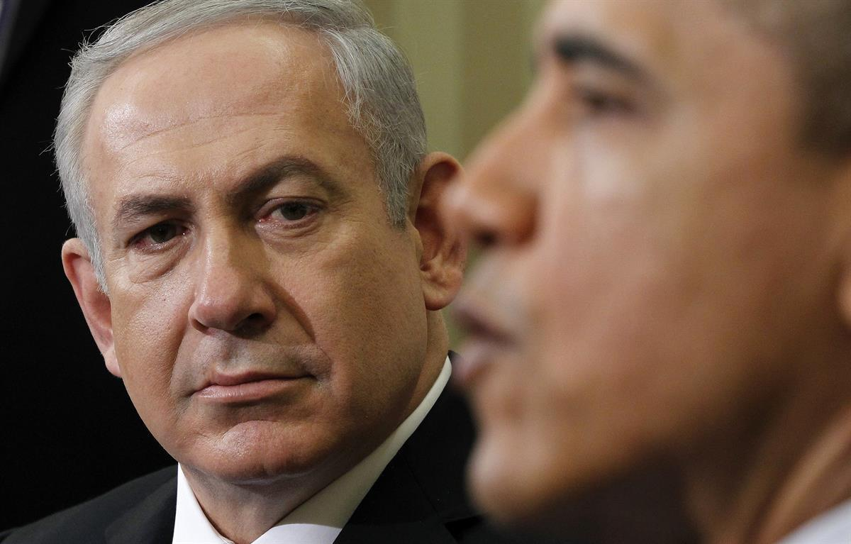 Israeli Prime Minister Benjamin Netanyahu listens as President Barack Obama speaks during their meeting on March 5, 2012, in the Oval Office (AP Photo/Pablo Martinez Monsivais)