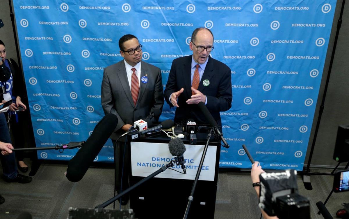 Tom Perez and Keith Ellison, Reuters