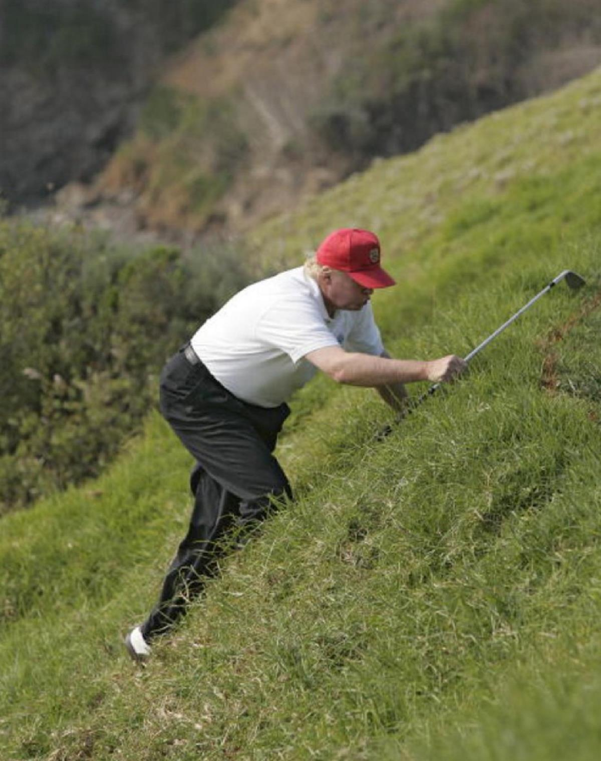 If he works this hard at golf, imagine how hard he will work at something almost as important…like the presidency.