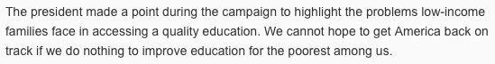 Excerpt from Secretary DeVos's op-ed for USAToday