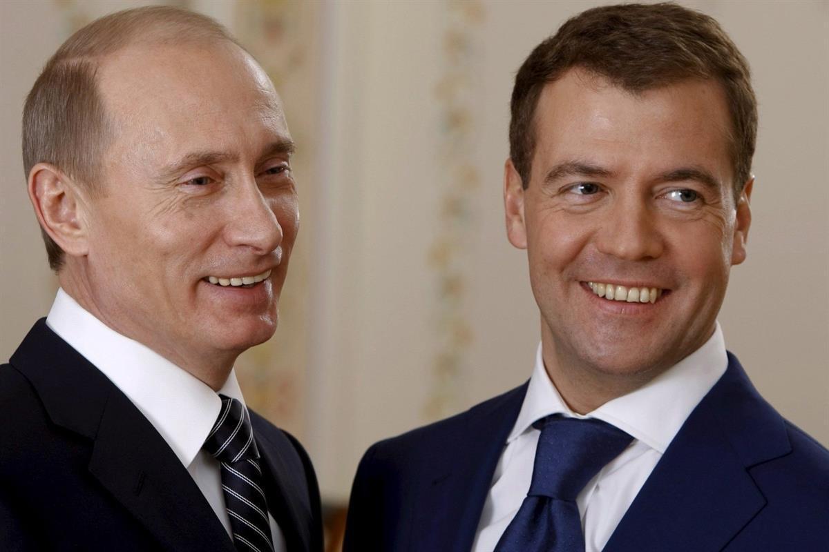 Vladimir Putin and DmitryMedvedev