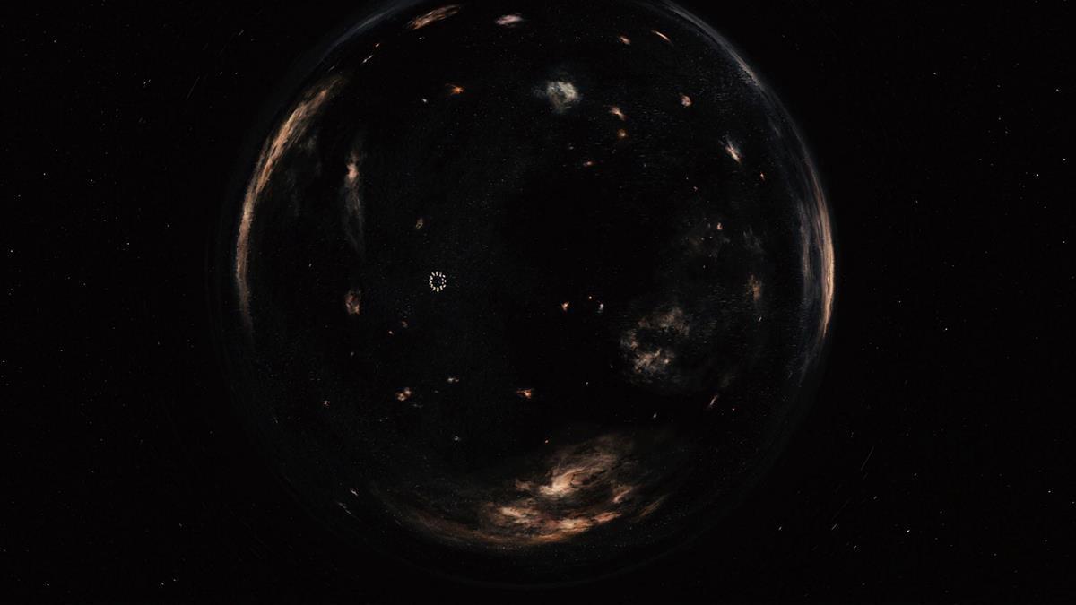 Still of a wormhole from Christopher Nolan's Interstellar (WarnerBros.)