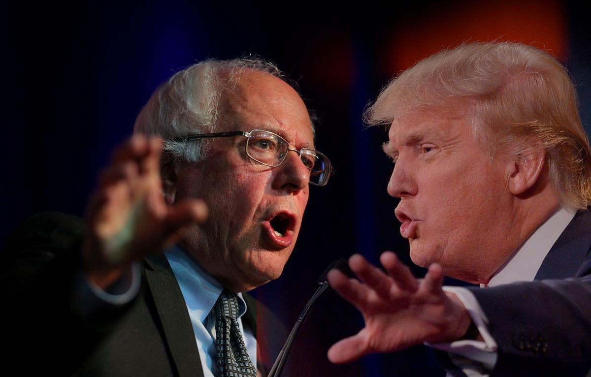 Bernie Sanders and Donald Trump (The Libertarian Republic)