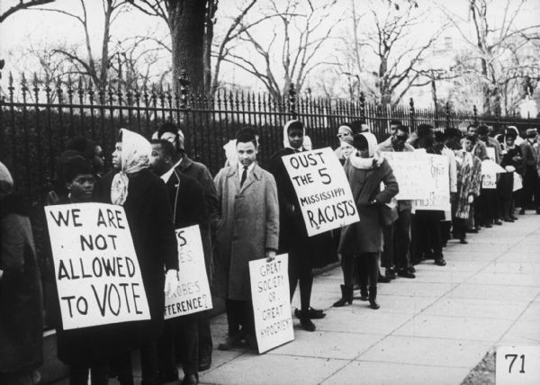 Protestors call for voting rights in 1964. Credit: Wisconsin Historical Society.
