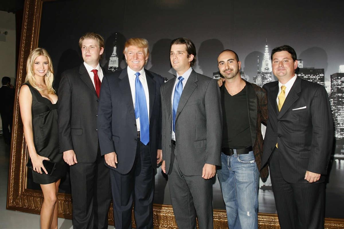 The Trumps with Alex Sapir and Julius Schwarz of the Bayrock Group. (Mark Von Holden/WireImage)