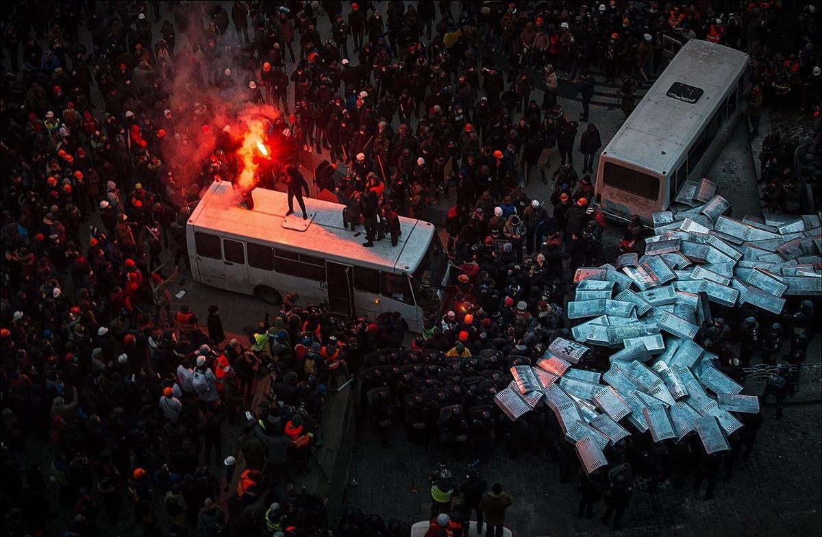 Protests in Kiev's Independence Square, Ukraine, 2014 (DenDidenko)