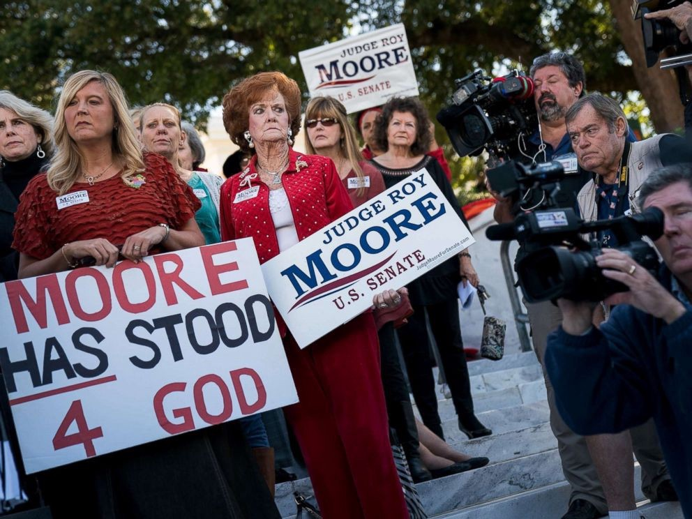 """Women For Moore"" rally, Nov. 17, 2017 in Montgomery, Ala. (photo: Drew Angerer/Getty images)"