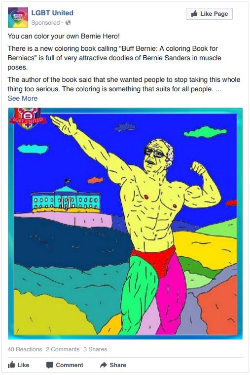 Didn't know Bernie was ripped. He definitely would've won.