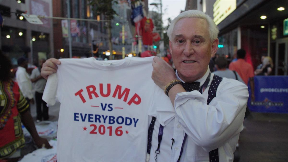 Roger Stone getting his man elected [Credit: Netflix]