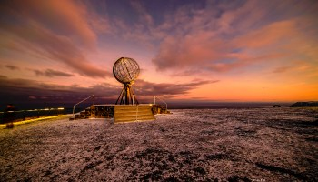 The globe at North Cape