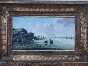 Victor Gabriel GILBERT (1847-1933) F - La pêche à pieds