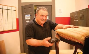 Mark DeVito on the set of HGTV's Flea Market Flip.