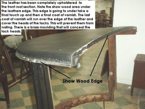 Restoration of show wood edge