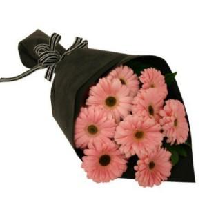 10 pink gerbera bouquet