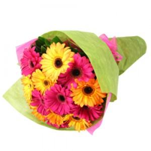 mixed gerbera bouquet