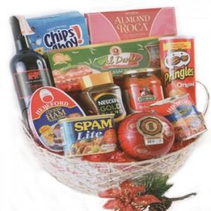 Seasons Christmas Basket